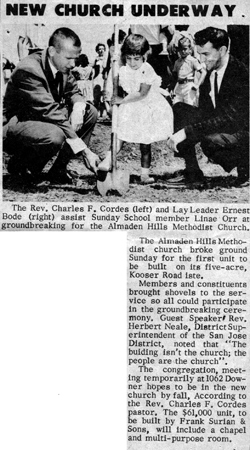 Newspaper article about groundbreaking ceremony.